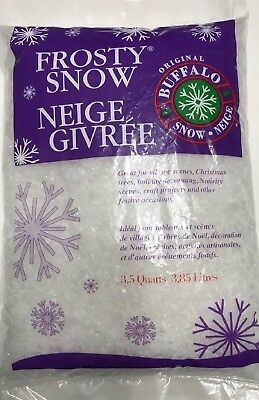 3.5 Qts Buffalo Snow FROSTY FLAKES Bag Christmas quarts Craft Artificial Fake