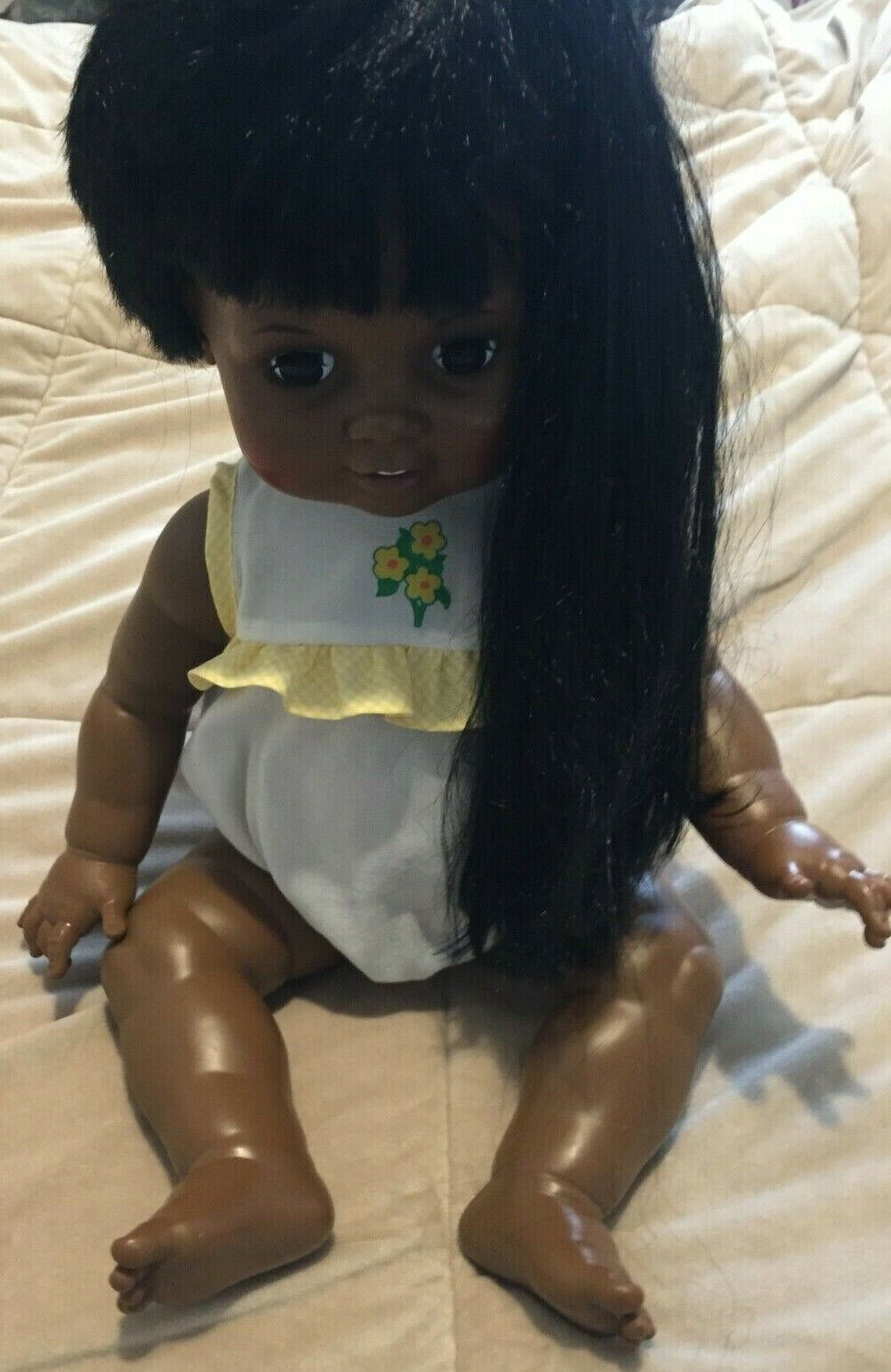"""1973 Baby Crissy doll African American Black Vintage Ideal 24"""""""