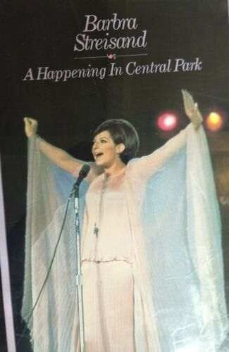 C Barbra Streisand BARBRA LIVE NOW AND THEN 1987 22 x 33 RARE rolled poster