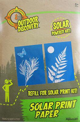 12 sheets SOLAR PRINT PAPER Sun sensitive Photo Art craft Shadow Science 5x7](Sun Sensitive Paper)