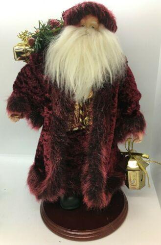 CHRISTMAS Santa/Father Christmas Stunningly Dressed Burgundy Cloak Faux Fur EUC
