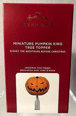 Hallmark-MINIATURE PUMPKIN KING-TREE TOPPER-Nightmare Before Christmas-Disney