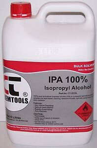 5-LTR 100% ISOPROPYL ALCOHOL ISO-PRO ISOPROPANOL RUBBING AIRBRUSH CLEANER LITRE