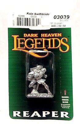 Reaper Miniatures Dark Heaven Legends Kain Swiftblade RPG Game Piece Pewter NIB