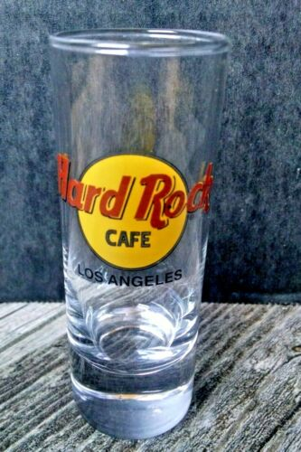 "Hard Rock Cafe Double Shot Glass 4"" Los Angeles CA USA"