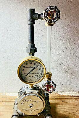 12 Vintage Brass Boiler Valve Assembly Parts Lot Steampunk Pressure Gauge
