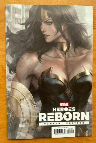 HEROES REBORN #1 Main Cover + Artgerm Lau Variant Marvel NM