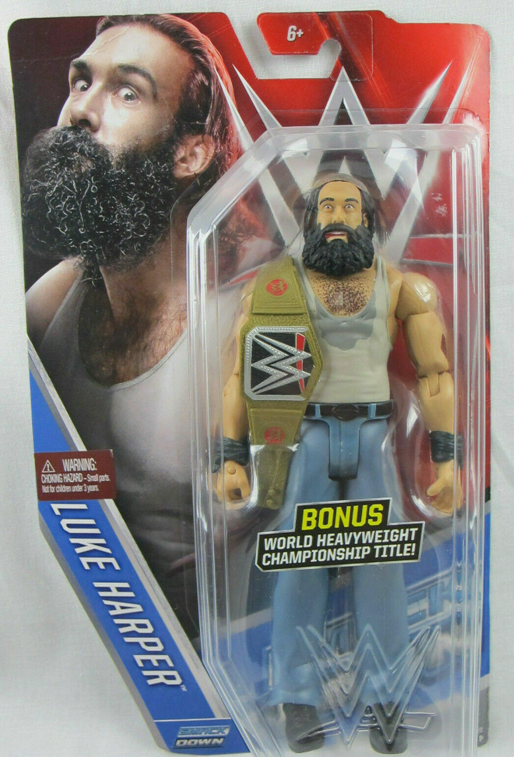 Mattel WWE Basic Luke Harper Belt WWF 2015 Action Figure NXT Raw Smackdown - $28.99