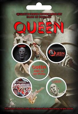 QUEEN - NEWS OF THE WORLD (NEW) (GIFT) BADGE PACK OFFICIAL BAND MERCH