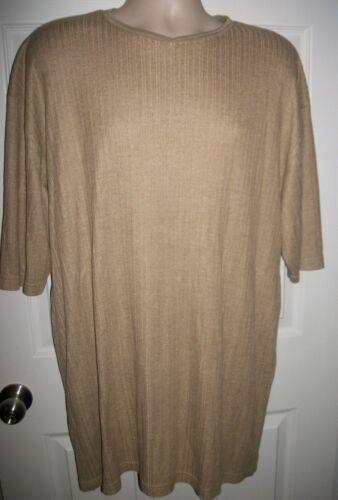 Claiborne Men's Brown Short Sleeved Sweater Size XXL