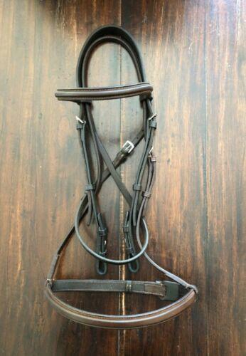Full-size NEW CAVALRY Plain raised Hunter /jumper bridle -NICE! Read Description