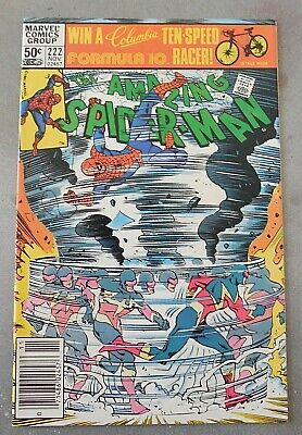 The AMAZING SPIDER-MAN #222 Marvel Comics 1981 SPEED DEMON! VF+ Nice book!