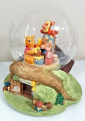 "Winnie The Pooh EMPTY Snow Globe ""Mr. Sanders"" Music Box Sparkle Song Disney"