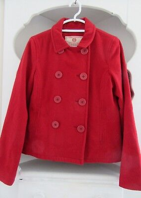 Abercrombie & Fitch Womens Size Large Authentic East Coast Vintage Pea Coat Red