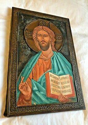 GORGEOUS ANTIQUE CARMELITE NUNS CONVENT HAND PAINTED CATHOLIC RELIGIOUS ICON