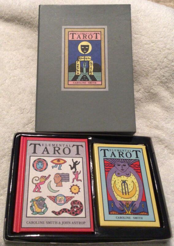 The Elemental Tarot Card Set Caroline Smith Boxed Set 78 Cards Book 1st Ed.