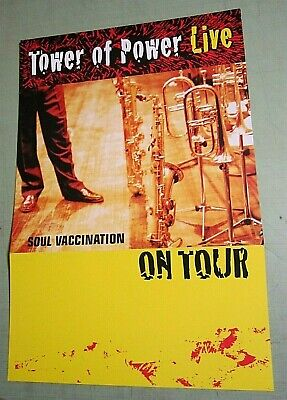 Tower Of Power 1999 Promo Album Flat Poster Soul Vaccination Live On Tour for sale  Shipping to India