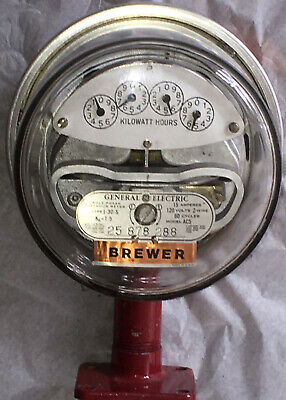 General Electric I-30-s 120v Model Ac5 Meter Brewer Us Vintage W Iron Stand