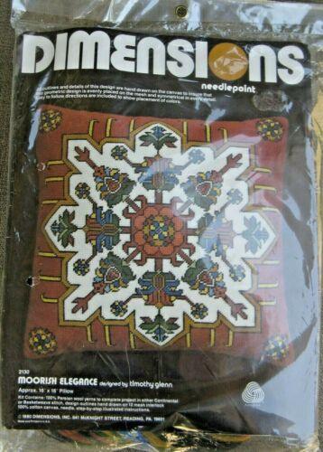 """Vintage 1980 Dimensions """"MOORISH ELEGANCE"""" Needlepoint Kit 2130 - SEALED!"""