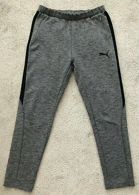 MEN'S PUMA EVOSTRIPE MOVE JOGGING PANTS - GREY MARL - SIZE MEDIUM