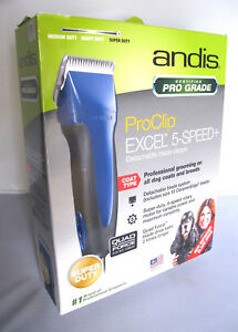 Andis Excel 5 Speed Detachable Blade Pet Clipper Blue