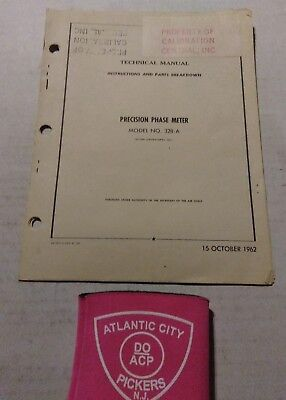 Acton Laboratories Inc Model 328-a Precision Phase Meter Technical Manual