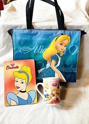 "Cute! Vintage Disney Popular  ""Cinderalla"" Items Including (Mug,Story Book,Bag)."