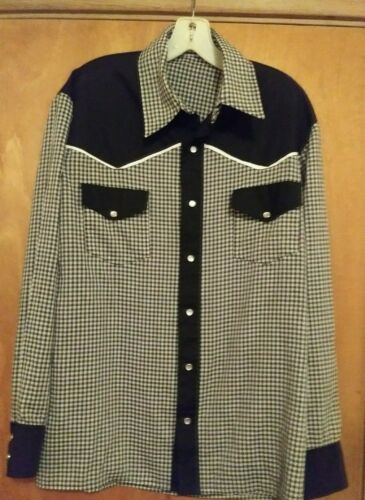 Mens Vintage Western Shirt Chest 44 inches