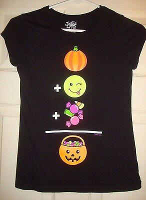 JUSTICE~girl~HALLOWEEN/SILK/SCREEN/PUMPKIN/CANDY/TOP! (10) WORN/ONCE! @@ CUTE!](Top Halloween Candy 10)