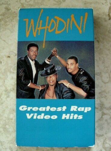 WHODINI GREATEST RAP VIDEO HITS VHS STEREO GRAND MASTER D DEE BLACK MUSIC