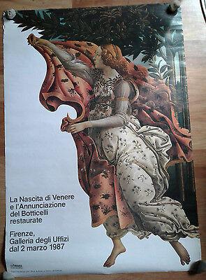 Botticelli La Nascita di Venere Art Gallery Exhibition Poster 1987 Firenze VTG