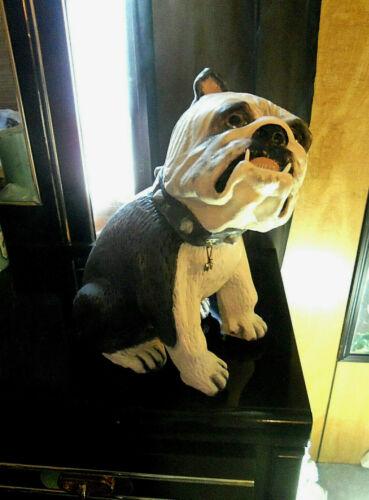 "Large Ceramic English Bulldog Figurine Statue 16"""