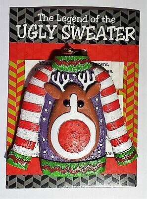 Ugly Christmas Sweater Ornaments (Ornament Legend Of the Ugly Christmas)