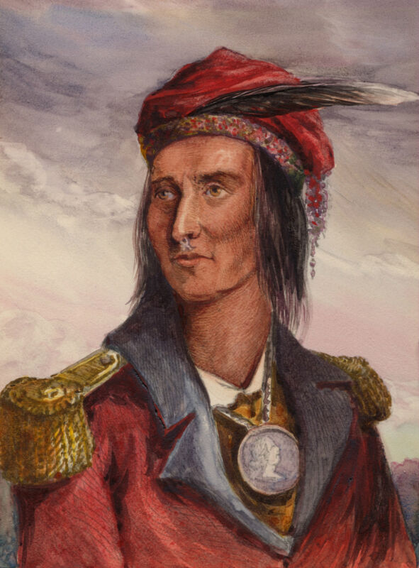 1868 Native American Indian TECUMSEH Glossy 8x10 Photo Painting Print