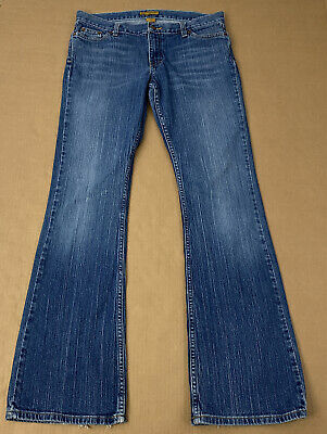 Hollister Women Size 11L Long Stretch Blue Denim Jeans Bootcut