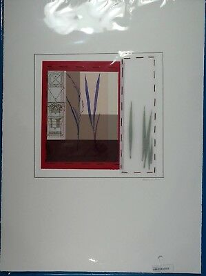 Maria Eva  Sowing Seeds Series  Original Mixed Media Collage On Paper Signed Loa