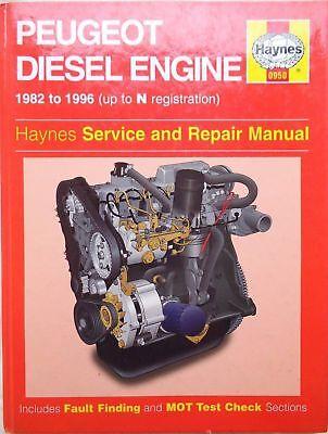 0950 Peugeot Diesel Engine 1982 - 1996 Haynes Service and Repair Manual