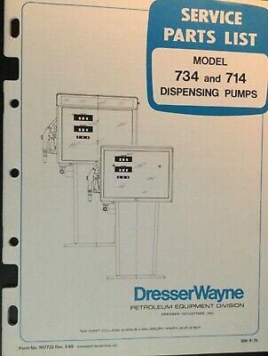 Wayne Dresser Dispensers Service Parts List Models 734 714 Gas Pumps