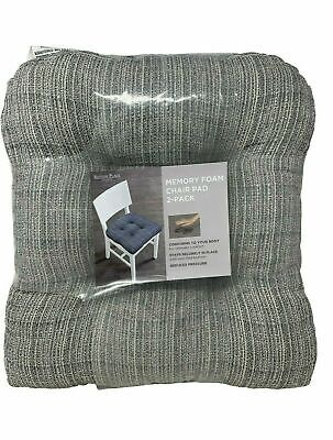 Sutton Place Collection Memory Foam Chair Pad 2 Pack - (Sutton Collection)