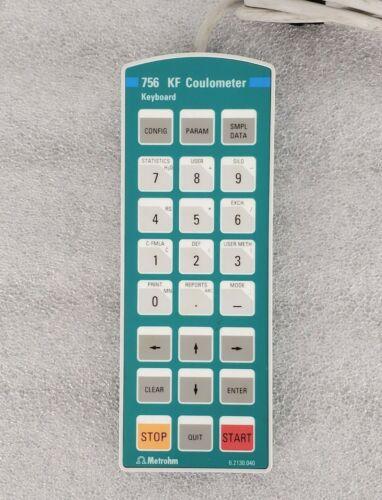 Metrohm 756 KF Coulometer Keyboard