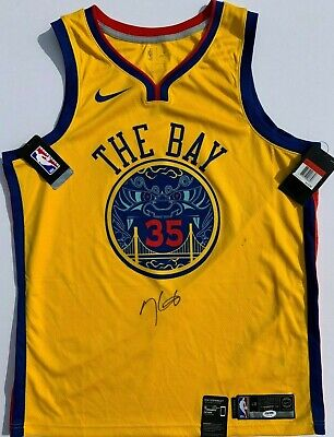 a271940a KEVIN DURANT SIGNED NIKE GOLDEN STATE WARRIORS BASKETBALL JERSEY PSA/DNA  MVP!