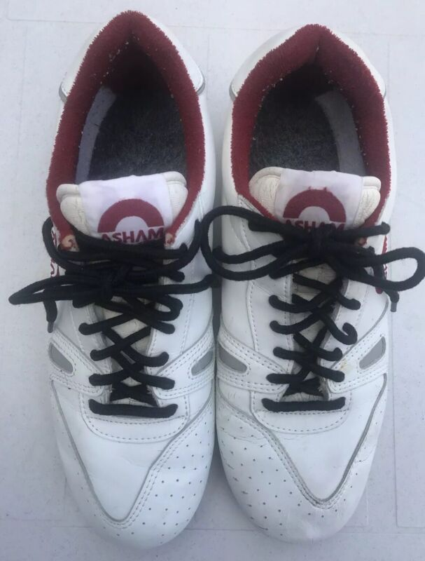 Vintage Asham Curling Shoes size 10 Mens White right foot slider