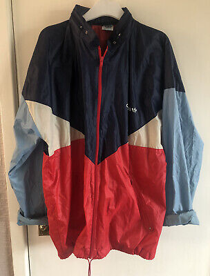Adidas Windbreaker Rave Jacket Colourblock DEFECTS AS SHOWN