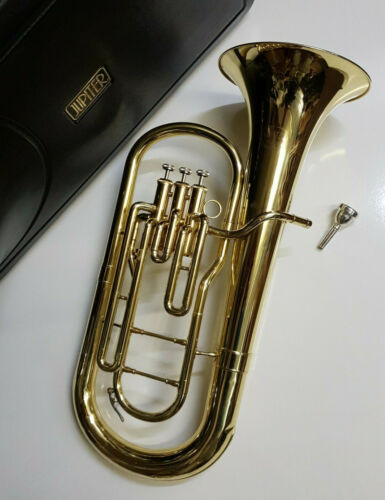 Jupiter JBR462 Bb Baritone Horn - Brass Lacquer Body - Complete Student Outfit