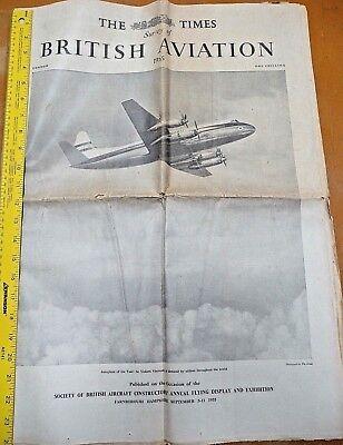 1955 Farnborough Society of British Aircraft Constructors Annual Flying Airshow