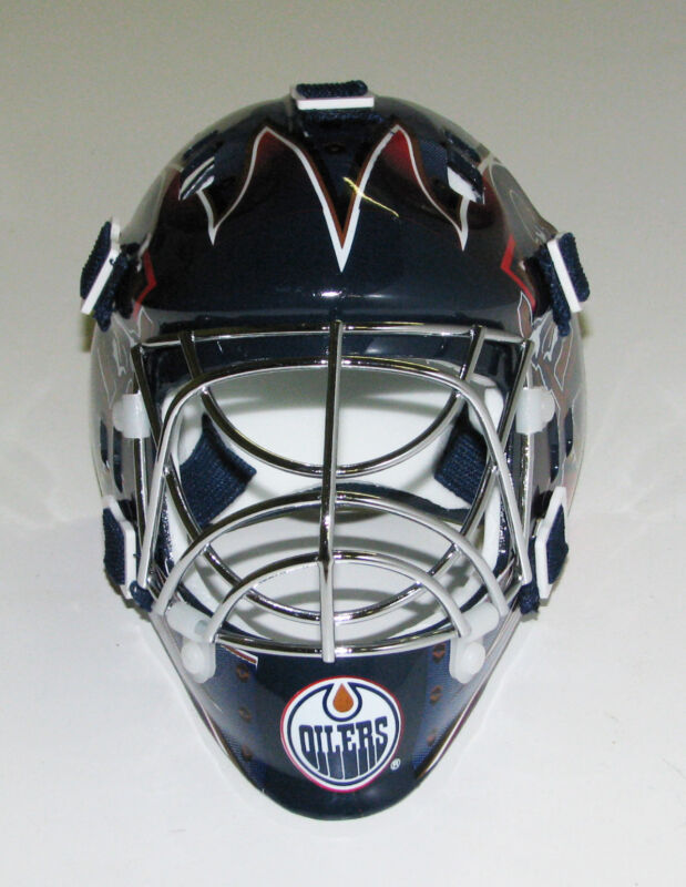 Edmonton Oilers Franklin Sports Collectible Mini Goalie Mask - NIB
