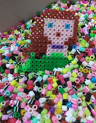 Melty beads fuse beads Perler beads mixed color 5x5mm 1000pcs DIY kids craft kit