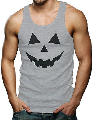 Pumpkin Face - Easy Halloween Costume Men's Tank Top T-shirt - Easy Pumpkin Halloween Costume