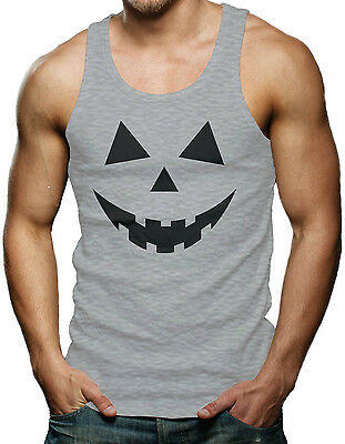 Pumpkin Face - Easy Halloween Costume Men's Tank Top T-shirt (Easy Halloween Pumpkin)