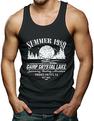 Summer 1980 Camp Crystal Lake - Jason Voorhees Horror Men's Tank Top T-shirt](Camp Crystal Lake)